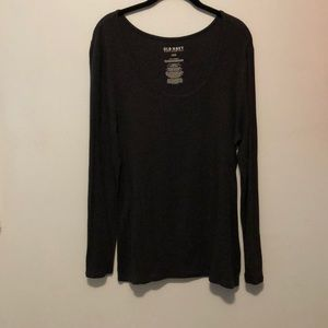 Old Navy Grey Long-Sleeved Tee size Large
